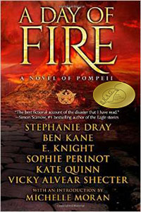 A DAY OF FIRE Book Cover w Medallion