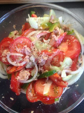 Risi Pisi finished salad